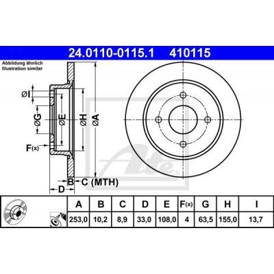 Kočioni disk ATE 24.0110-0115.1