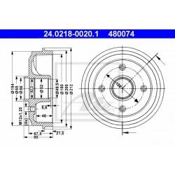 Kočioni bubanj ATE 24.0218-0020.1
