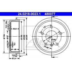 Kočioni bubanj ATE 24.0218-0023.1