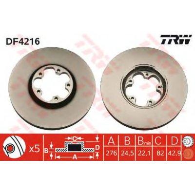 Kočioni disk TRW DF4216